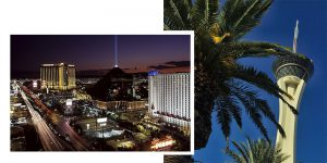 Glitz and glamour await just over an hour away in Las Vegas, Nevada
