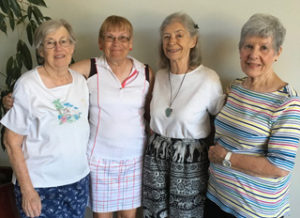 Left to right: Phoebe Love, Jean Brown, Jill Persichetti, Yvonne Lambros
